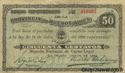 50 Centavos ARGENTINE  1891 PS.0614 TTB+