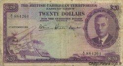 20 Dollars CARAÏBES  1951 P.05 pr.TB