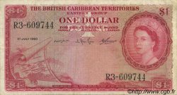 1 Dollar CARAÏBES  1960 P.07b TB+