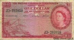 1 Dollar CARAÏBES  1962 P.07c pr.TB