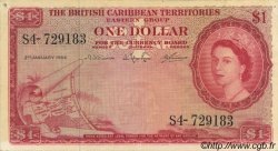 1 Dollar CARAÏBES  1964 P.07c SUP