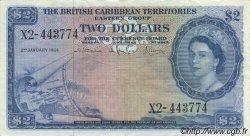 2 Dollars CARAÏBES  1964 P.08c TTB+