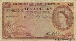 10 Dollars CARAÏBES  1956 P.10b B+