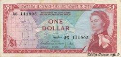 1 Dollar CARAÏBES  1965 P.13a TTB
