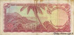 1 Dollar CARAÏBES  1965 P.13b TTB