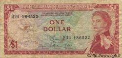 1 Dollar CARAÏBES  1965 P.13d B à TB