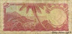 1 Dollar CARAÏBES  1965 P.13e TB