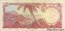 1 Dollar CARAÏBES  1965 P.13f TTB+