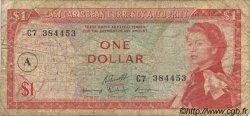 1 Dollar CARAÏBES  1965 P.13h B+