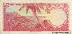 1 Dollar CARAÏBES  1965 P.13n TTB