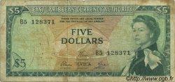 5 Dollars CARAÏBES  1965 P.14e pr.TB