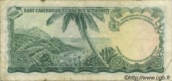 5 Dollars CARAÏBES  1965 P.14g pr.TTB