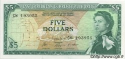 5 Dollars CARAÏBES  1965 P.14g NEUF
