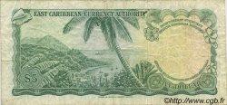 5 Dollars CARAÏBES  1965 P.14h TB