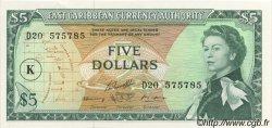 5 Dollars CARAÏBES  1965 P.14l NEUF