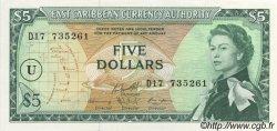 5 Dollars CARAÏBES  1965 P.14o NEUF