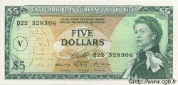 5 Dollars CARAÏBES  1965 P.14p pr.NEUF