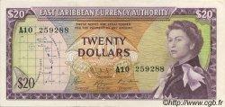 20 Dollars CARAÏBES  1965 P.15e SUP