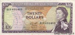 20 Dollars CARAÏBES  1965 P.15g SUP
