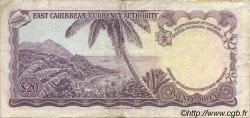 20 Dollars CARAÏBES  1965 P.15j pr.TTB