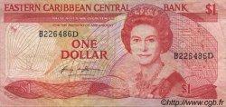 1 Dollar CARAÏBES  1985 P.17d TTB
