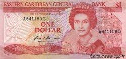 1 Dollar CARAÏBES  1985 P.17g NEUF