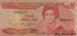 1 Dollar CARAÏBES  1985 P.17l B
