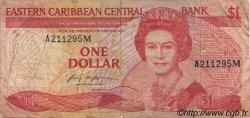 1 Dollar CARAÏBES  1985 P.17m TB