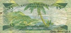 5 Dollars CARAÏBES  1986 P.18a TB+