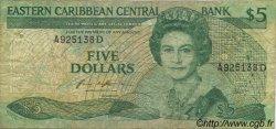 5 Dollars CARAÏBES  1986 P.18d B+