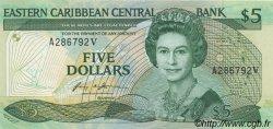 5 Dollars CARAÏBES  1986 P.18v NEUF