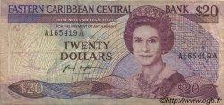 20 Dollars CARAÏBES  1987 P.19a pr.TB