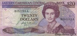 20 Dollars CARAÏBES  1987 P.19a pr.TTB