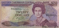 20 Dollars CARAÏBES  1987 P.19l TB