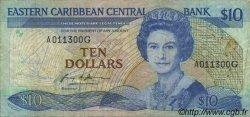 10 Dollars CARAÏBES  1985 P.23g TB+