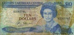 10 Dollars CARAÏBES  1985 P.23i1 B+