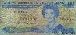 10 Dollars CARAÏBES  1985 P.23v1 B