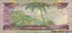 20 Dollars CARAÏBES  1985 P.24g TB