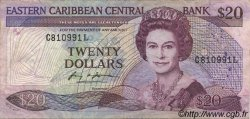 20 Dollars CARAÏBES  1985 P.24l1 TB+