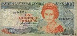 100 Dollars CARAÏBES  1988 P.25a1 TB