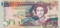 20 Dollars CARAÏBES  1993 P.28l SUP