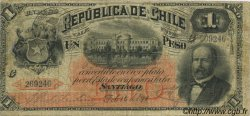 1 Peso CHILI  1891 P.011 B+