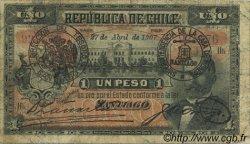 1 Peso CHILI  1907 P.015a B+