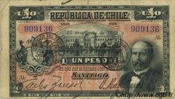 1 Peso CHILI  1919 P.015b TTB