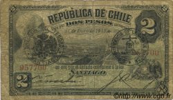2 Pesos CHILI  1911 P.016 B+