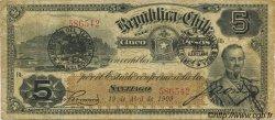 5 Pesos CHILI  1909 P.019a TB