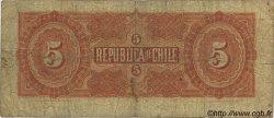 5 Pesos CHILI  1912 P.019b B+