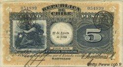 5 Pesos CHILI  1922 P.061 TB+
