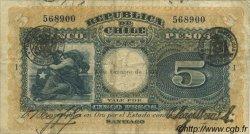 5 Pesos CHILI  1923 P.061 TB