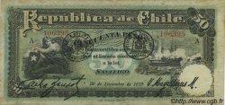 50 Pesos CHILI  1919 P.065 TTB+